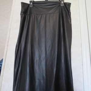 Blush Sexy Black Spandex/Polyester Blend Skirt 1X